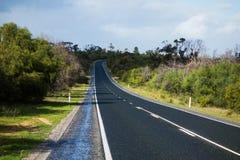 sicily för väg för panorama för land för luftblueoklarheter öppen sky Royaltyfri Bild