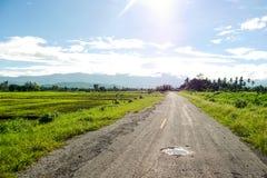 sicily för väg för panorama för land för luftblueoklarheter öppen sky Arkivfoton