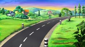 sicily för väg för panorama för land för luftblueoklarheter öppen sky Bild 02 Royaltyfri Foto
