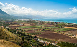 Sicily Fields. In The Palermo bay Stock Images