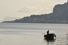 Sicily fisherman. Royalty Free Stock Image
