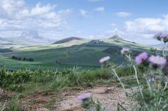 Sicily. Hills of Sicily, landscape of interior Stock Image
