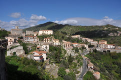 Sicily - italy. Small village on italian island sicily royalty free stock images