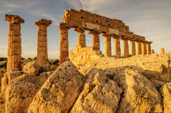 Sicily, Italy: Acropolis of Selinunte Stock Photos