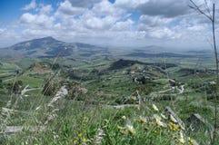 Sicily. Italy, Sicily, landscape of interior Royalty Free Stock Photo