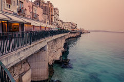 Sicily, Italy: Mediterranean coast of Syracuse Stock Images