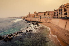 Sicily, Italy: Mediterranean coast of Syracuse Stock Photo