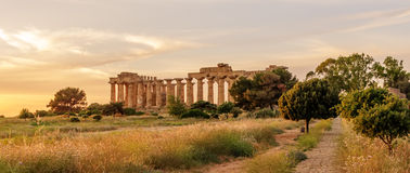 Sicily, Italy: the Temple of Hera at Selinunte Stock Photography