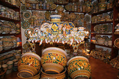 Sicily, Italy. Traditional souvenirs of Royalty Free Stock Images