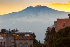 sicily L'Italia Vulcano Etna immagine stock