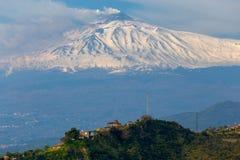 sicily L'Italia Vulcano Etna fotografia stock