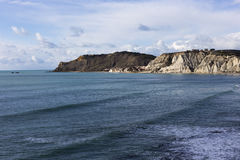 Sicily linia brzegowa blisko Agrigento Zdjęcia Stock