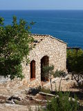 Sicily mediterranean house on the coast Royalty Free Stock Images