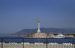 Sicily. Messina. A Statue Of The Madonna. Stock Photography