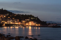 Sicily by night Royalty Free Stock Photo