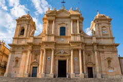 Sicily noto dome view on sunny day Royalty Free Stock Photos