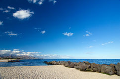 Sicily pebble beach royalty free stock images
