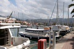 Sicily Portoposa. Resort Sicily parking lot for yachts Portorosa Stock Photo