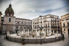 Sicily pretoria square Royalty Free Stock Images