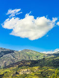 Sicily's mountains. The mountain views of a national park in Sicily (Italy), the cloud over the mountains contributes to creating a scene suggestive Stock Image