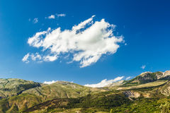 Sicily's mountains. The mountain views of a national park in Sicily (Italy), the cloud over the mountains contributes to creating a scene suggestive Stock Photo