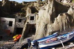Sicily, Salina, Fishing village royalty free stock photography