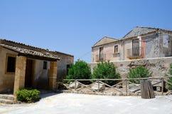 Sicily scene. Old Sicilian houses in Sicily, Italy Stock Photos