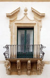 Sicily - Scicli. Typical baroque Sicilian balcony Stock Images