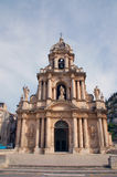 Sicily - Scicli. Saint Bartolomeo, baroque church in Scicli, Sicily Royalty Free Stock Photo