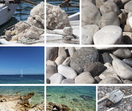 Sicily sea collage Royalty Free Stock Photos