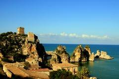 Sicily seascape, Scopello royalty free stock photo