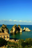 Sicily seascape, Tonnara Scopello Stock Photography
