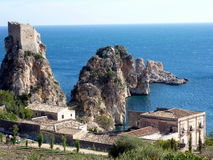 Sicily seascape, Tonnara Scopello Royalty Free Stock Photography