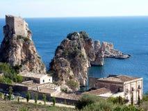Sicily seascape, Tonnara Scopello Royalty Free Stock Photography