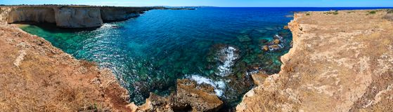 Sicily summer sea coast panorama, Italy Royalty Free Stock Images