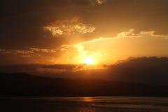 Sicily Sunset Royalty Free Stock Photography