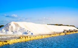 Sicily, Trapani, salt production, saline royalty free stock photo