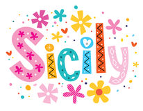 Sicily vector lettering decorative type Stock Images