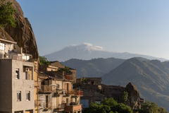 Sicily villaga etna Royalty Free Stock Photography