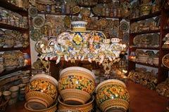 Sicily, Włochy. Tradycyjne pamiątki Obrazy Royalty Free