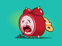 Sick alarm clock Stock Images
