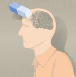 Sick of alzheimer illustration and memory loss. Memory loss disease like Alzheimer's. forgotten relatives names and objects vector illustration