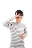SICK ASL Sign language communication Royalty Free Stock Image
