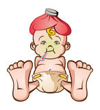Sick Baby vector illustration