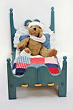 Sick Bear in Bed Stock Photography