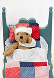 Sick Bear in Bed Royalty Free Stock Photos