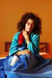 Mature Woman Sore throat royalty free stock photos