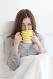 Sick in bed Royalty Free Stock Image