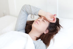 Sick in bed Royalty Free Stock Photography