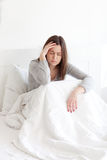 Sick in bed Royalty Free Stock Images